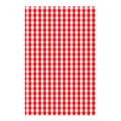 Christmas Red Velvet Large Gingham Check Plaid Pattern Shower Curtain 48  X 72  (small)  by PodArtist