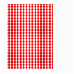 Christmas Red Velvet Large Gingham Check Plaid Pattern Large Garden Flag (two Sides) by PodArtist