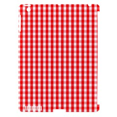 Christmas Red Velvet Large Gingham Check Plaid Pattern Apple Ipad 3/4 Hardshell Case (compatible With Smart Cover) by PodArtist