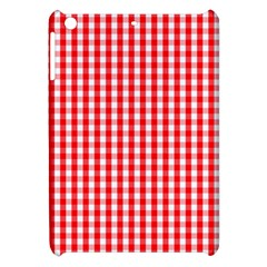 Christmas Red Velvet Large Gingham Check Plaid Pattern Apple Ipad Mini Hardshell Case by PodArtist