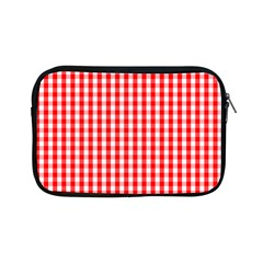Christmas Red Velvet Large Gingham Check Plaid Pattern Apple Ipad Mini Zipper Cases by PodArtist