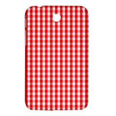 Christmas Red Velvet Large Gingham Check Plaid Pattern Samsung Galaxy Tab 3 (7 ) P3200 Hardshell Case  by PodArtist