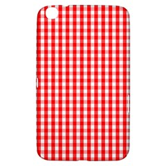 Christmas Red Velvet Large Gingham Check Plaid Pattern Samsung Galaxy Tab 3 (8 ) T3100 Hardshell Case  by PodArtist