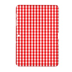 Christmas Red Velvet Large Gingham Check Plaid Pattern Samsung Galaxy Tab 2 (10 1 ) P5100 Hardshell Case  by PodArtist