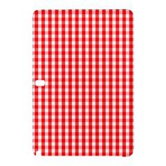 Christmas Red Velvet Large Gingham Check Plaid Pattern Samsung Galaxy Tab Pro 10 1 Hardshell Case