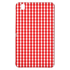 Christmas Red Velvet Large Gingham Check Plaid Pattern Samsung Galaxy Tab Pro 8 4 Hardshell Case by PodArtist