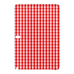 Christmas Red Velvet Large Gingham Check Plaid Pattern Samsung Galaxy Tab Pro 12 2 Hardshell Case by PodArtist