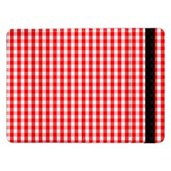Christmas Red Velvet Large Gingham Check Plaid Pattern Samsung Galaxy Tab Pro 12 2  Flip Case by PodArtist