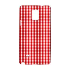 Christmas Red Velvet Large Gingham Check Plaid Pattern Samsung Galaxy Note 4 Hardshell Case by PodArtist