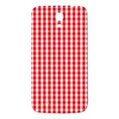 Christmas Red Velvet Large Gingham Check Plaid Pattern Samsung Galaxy Mega I9200 Hardshell Back Case by PodArtist