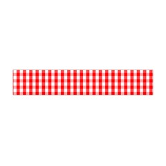 Christmas Red Velvet Large Gingham Check Plaid Pattern Flano Scarf (mini) by PodArtist