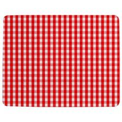 Christmas Red Velvet Large Gingham Check Plaid Pattern Jigsaw Puzzle Photo Stand (rectangular) by PodArtist