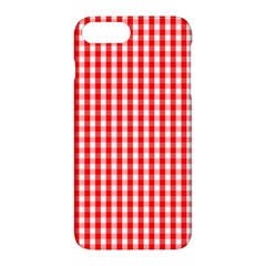 Christmas Red Velvet Large Gingham Check Plaid Pattern Apple Iphone 7 Plus Hardshell Case by PodArtist