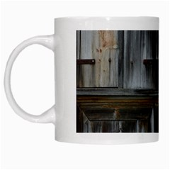 Alpine Hut Almhof Old Wood Grain White Mugs by BangZart