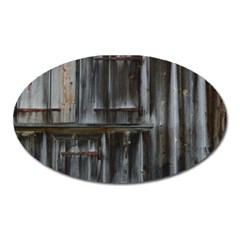 Alpine Hut Almhof Old Wood Grain Oval Magnet by BangZart