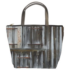 Alpine Hut Almhof Old Wood Grain Bucket Bags by BangZart