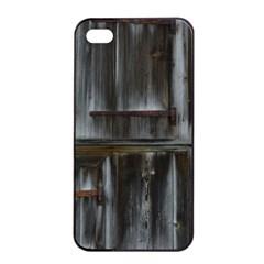 Alpine Hut Almhof Old Wood Grain Apple Iphone 4/4s Seamless Case (black)