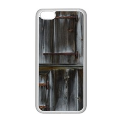 Alpine Hut Almhof Old Wood Grain Apple Iphone 5c Seamless Case (white)