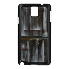Alpine Hut Almhof Old Wood Grain Samsung Galaxy Note 3 N9005 Case (black)