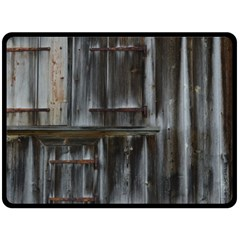 Alpine Hut Almhof Old Wood Grain Double Sided Fleece Blanket (large)  by BangZart