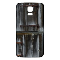 Alpine Hut Almhof Old Wood Grain Samsung Galaxy S5 Back Case (white)
