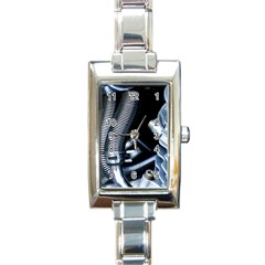 Motorcycle Details Rectangle Italian Charm Watch by BangZart