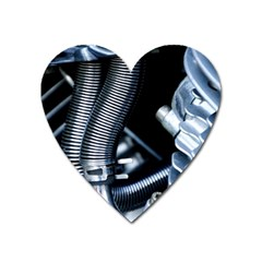 Motorcycle Details Heart Magnet by BangZart