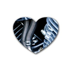 Motorcycle Details Heart Coaster (4 Pack)