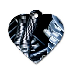 Motorcycle Details Dog Tag Heart (two Sides)
