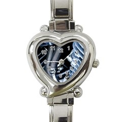 Motorcycle Details Heart Italian Charm Watch by BangZart