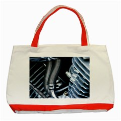 Motorcycle Details Classic Tote Bag (red) by BangZart