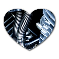 Motorcycle Details Heart Mousepads by BangZart
