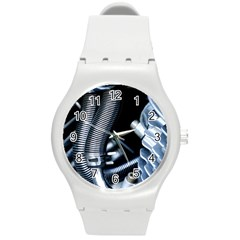Motorcycle Details Round Plastic Sport Watch (m) by BangZart