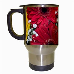 Flowers Gerbera Floral Spring Travel Mugs (white) by BangZart