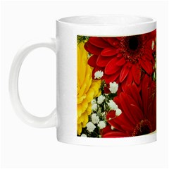 Flowers Gerbera Floral Spring Night Luminous Mugs by BangZart