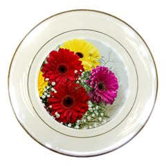 Flowers Gerbera Floral Spring Porcelain Plates by BangZart