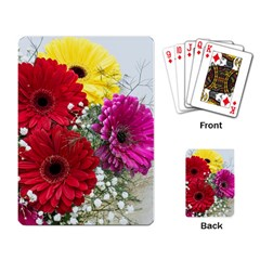 Flowers Gerbera Floral Spring Playing Card by BangZart