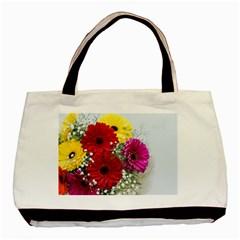 Flowers Gerbera Floral Spring Basic Tote Bag