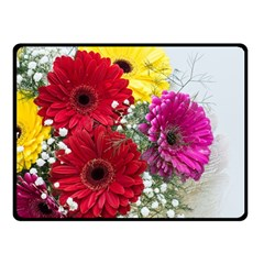 Flowers Gerbera Floral Spring Fleece Blanket (small) by BangZart