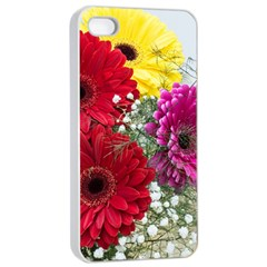 Flowers Gerbera Floral Spring Apple Iphone 4/4s Seamless Case (white) by BangZart