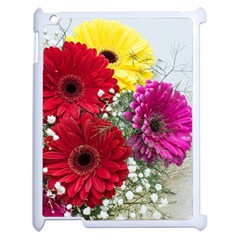 Flowers Gerbera Floral Spring Apple Ipad 2 Case (white) by BangZart