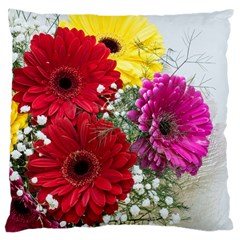Flowers Gerbera Floral Spring Large Cushion Case (one Side)