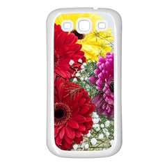 Flowers Gerbera Floral Spring Samsung Galaxy S3 Back Case (white) by BangZart