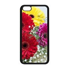 Flowers Gerbera Floral Spring Apple Iphone 5c Seamless Case (black) by BangZart