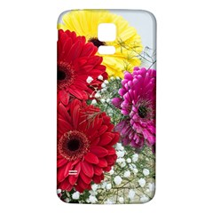 Flowers Gerbera Floral Spring Samsung Galaxy S5 Back Case (white)