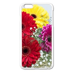 Flowers Gerbera Floral Spring Apple Iphone 6 Plus/6s Plus Enamel White Case by BangZart