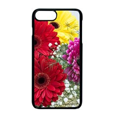 Flowers Gerbera Floral Spring Apple Iphone 7 Plus Seamless Case (black) by BangZart