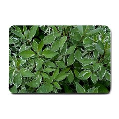 Texture Leaves Light Sun Green Small Doormat  by BangZart