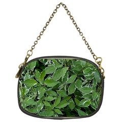 Texture Leaves Light Sun Green Chain Purses (one Side)  by BangZart