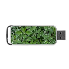 Texture Leaves Light Sun Green Portable Usb Flash (two Sides) by BangZart